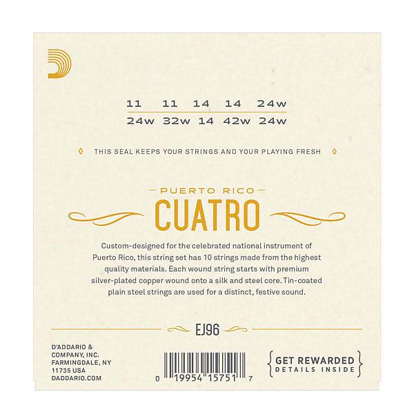 D'Addario EJ96 Cuatro-Puerto Rico Strings
