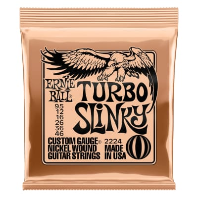 Ernie Ball P02224 Turbo Slinky Nickel Wound Electric Guitar Strings