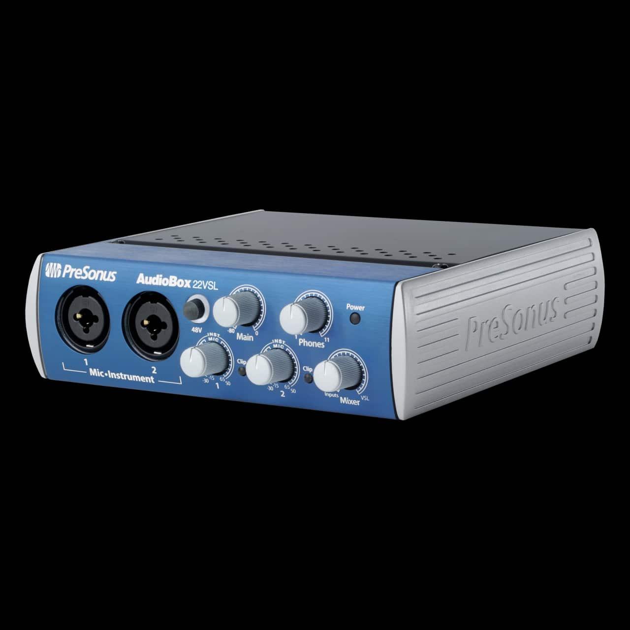 presonus audiobox 22vsl audio box usb 2 0 computer recording reverb. Black Bedroom Furniture Sets. Home Design Ideas