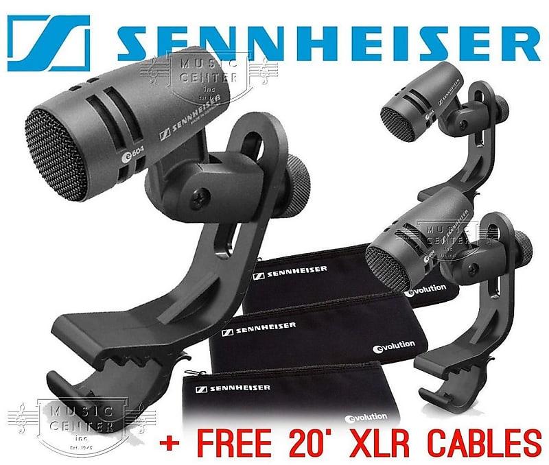 sennheiser e604 3 pack compact dynamic drum microphone bundle reverb. Black Bedroom Furniture Sets. Home Design Ideas
