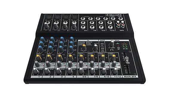 mackie mix12fx 12 channel compact mixer with fx reverb. Black Bedroom Furniture Sets. Home Design Ideas