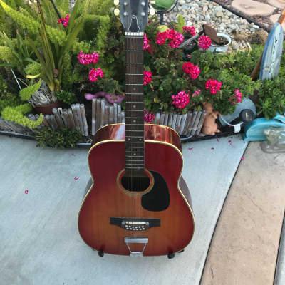1970's Ventura V-16  Sunburst Hummingbird Type 12 String Jumbo Guitar for sale