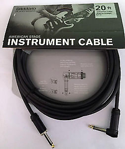 Planet Waves American Stage Right Angle Instrument Cable 20ft