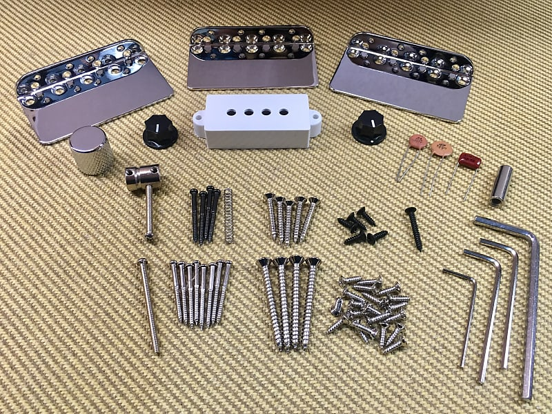 bass guitar parts lot 2 bridge plates p bass pickup cover reverb. Black Bedroom Furniture Sets. Home Design Ideas