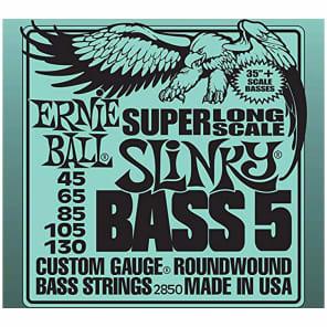Ernie Ball 2850 5-string Super Long Scale Slinky Bass Strings