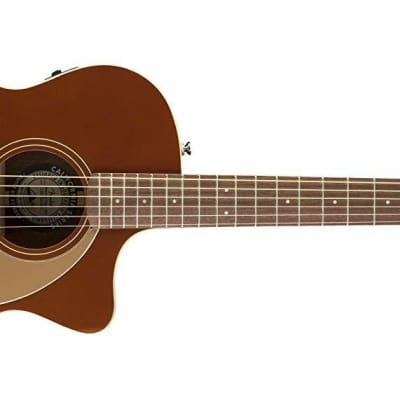 Fender Newporter Player Acoustic Guitar | Rustic Copper for sale