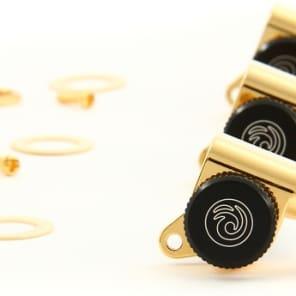 D'Addario Planet Waves Auto-Trim Locking Tuners - 6-Inline - Gold