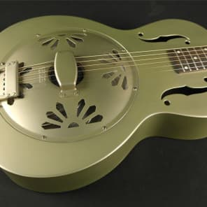 Gretsch G9201 Honey Dipper Round-Neck Brass Body Biscuit Cone Resonator Guitar - Shed Roof Finish (18A) for sale
