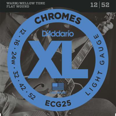 D'Addario XL Chromes Flatwound Electric Strings - 12-52