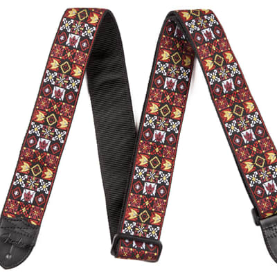 Fender® Festival Hootenanny Strap, Red for sale