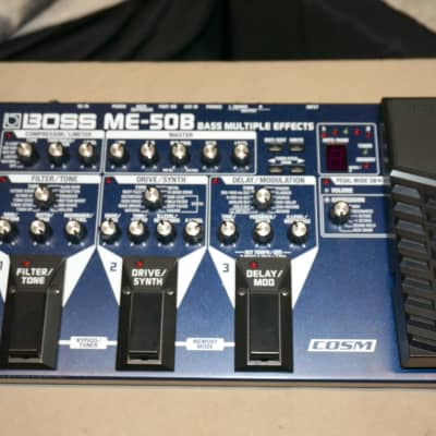 Boss ME-50B Bass Multi-Effects Processor Floorboard with Power Supply for sale