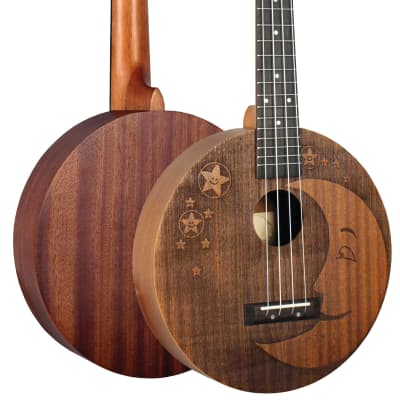 Eddy Finn Moon and Stars EF-Moon Concert Ukulele Mahogany Free Shipping for sale