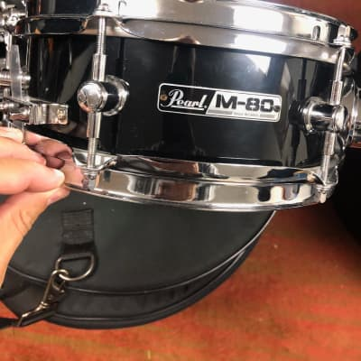 "Pearl SFS10 Short Fuse (M-80) 10x4.5"" Snare Drum with Bracket, Mount 2010s Black"