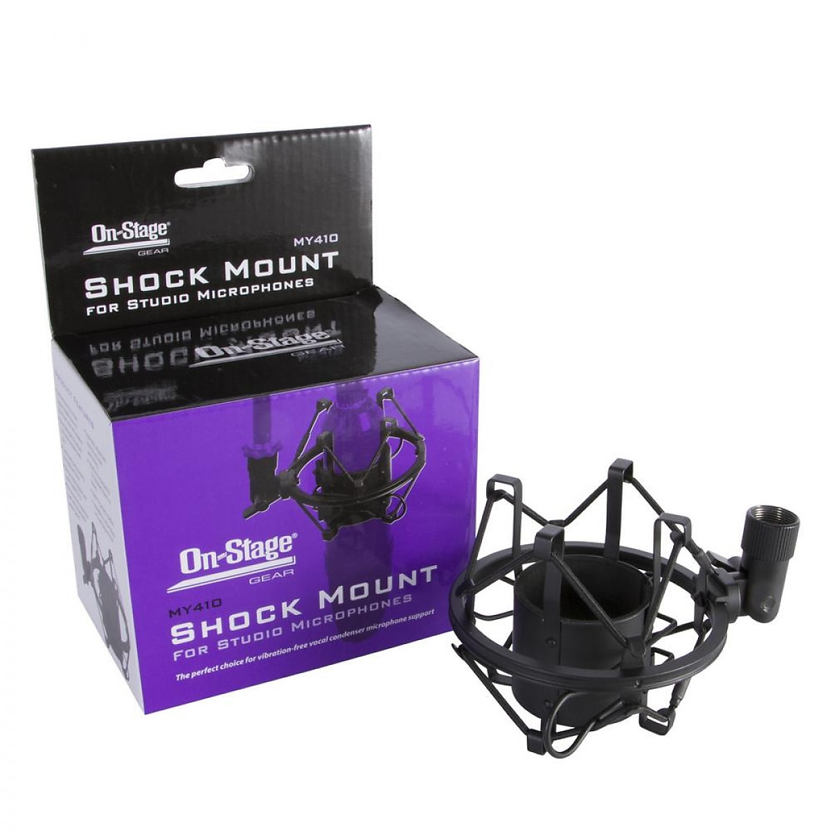 On-Stage MY410 Large Diaphragm Condenser Microphone Shock Mount Black