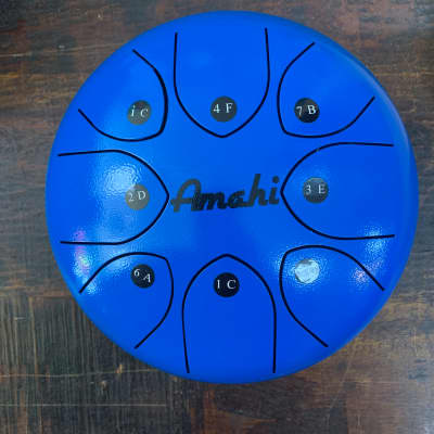 "Amahi Steel Tongue Drum - KLG8BL - Blue - 8"""