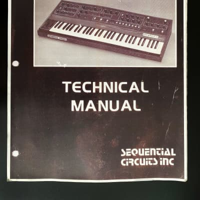 Sequential Circuits Prophet 5 Technical Manual (service)