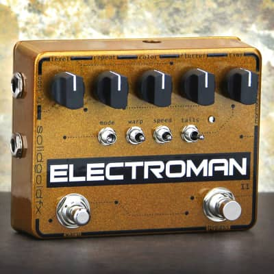 SolidGoldFX Electroman MKII Modulated Delay Guitar Effects Pedal MK2 Stompbox