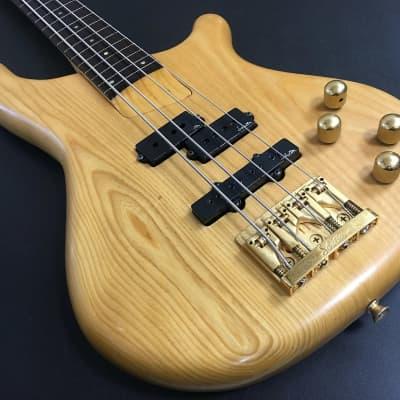 Kawai Rockoon w/Schaller RB Fretless Bass Guitar 1989 Natural for sale