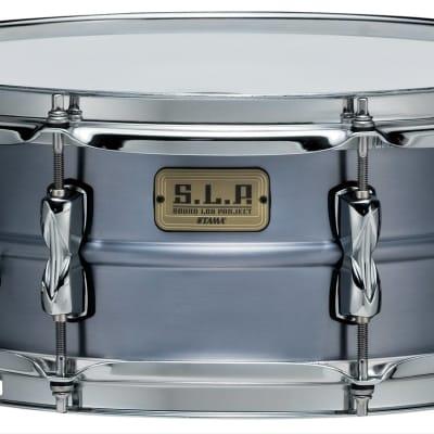 """Tama LAL1455  S.L.P. Classic Dry Aluminum 5.5"""" x 14"""" Snare Drum"""