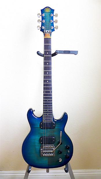 overwater guitar company chris may custom 1983 blue reverb. Black Bedroom Furniture Sets. Home Design Ideas