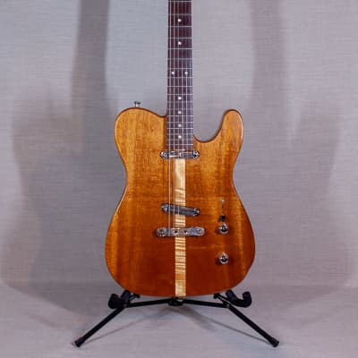 Rice Custom Natural Wood Electric guitar for sale