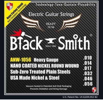 Black Smith électrique 10-56 coated - Jeu de cordes guitare électrique for sale