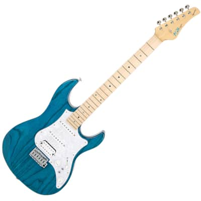 Fujigen Expert Odyssey Electric Guitar  EOS-ASH-R Transparent Blue Maple for sale