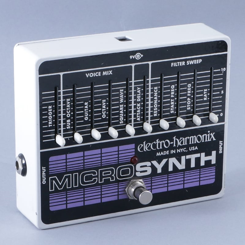 electro harmonix micro synth synthesizer guitar effects pedal reverb. Black Bedroom Furniture Sets. Home Design Ideas