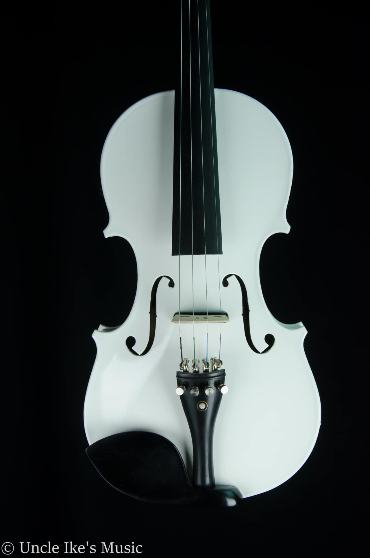 Cecilio Cvnae White Electric Violin W Case Amp Bow Reverb