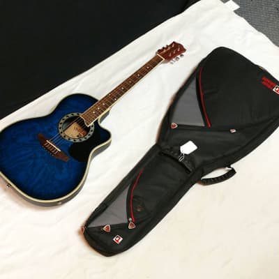 INDIANA Shannondale acoustic electric cutaway GUITAR Blue w/ BAG - SRB-BLS for sale