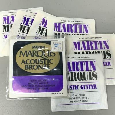 Martin Marquis Acoustic Bronze Heavy Gauge String Set 1960's Case Candy Vintage USA