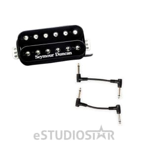 Seymour Duncan 11103-13-B TB-4 JB Trembucker Pickup Black with 2 Patch Cables