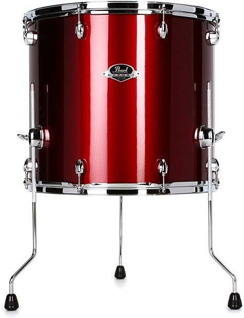 pearl export exx floor tom 18 x16 red wine reverb