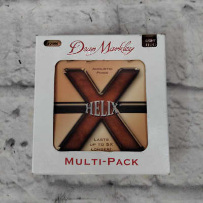 3-Pack of Dean Markley 2086 Helix Light Acoustic Phos Guitar Strings (11-52)