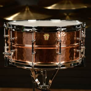 """Ludwig LC662KT Hammered Copper Phonic 6.5x14"""" Snare Drum with Tube Lugs"""