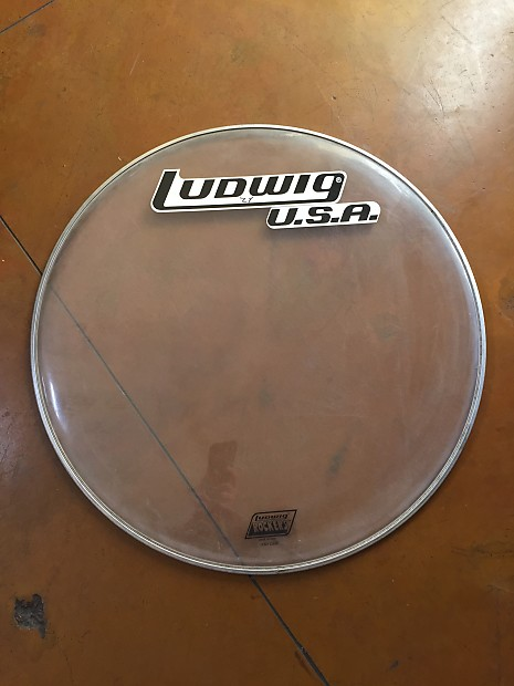 ludwig usa bass drum head 24 clear rocker 1970 39 s reverb. Black Bedroom Furniture Sets. Home Design Ideas