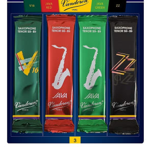 Vandoren SRMIXT3 Tenor Saxophone Mix Card Jazz Redd Variety Pack - Strength 3