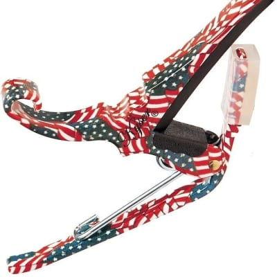 Kyser Guitar Capo  Quick Change  American Flag - Stars and Stripes  6 String