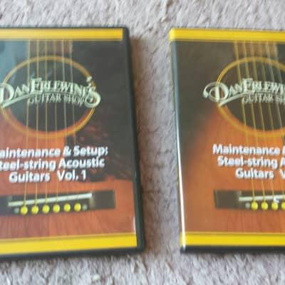 Stewart Macdonald Dan Earlwine Video Set Maintenace Set Up Acoustic Guitars Vol. 1 & 2 FREE shipping for sale