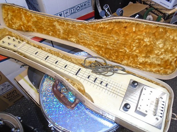 vintage montgomery wards silvertone lap steel guitar as is reverb. Black Bedroom Furniture Sets. Home Design Ideas