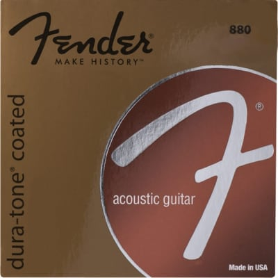 Fender 880XL Extra Light .010 - .048 Coated 80/20 Bronze Acoustic Guitar Strings for sale