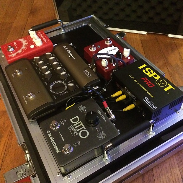 loaded professional acoustic guitar pedalboard with ata road reverb. Black Bedroom Furniture Sets. Home Design Ideas