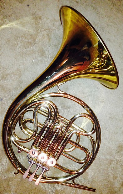 Cg conn ltd French horn made in the USA ohsc Brass