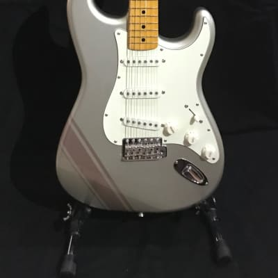 Fender FSR Traditional '50S Stratocaster with Competition Stripe Inca Silver  Shoreline Gold Stripes for sale