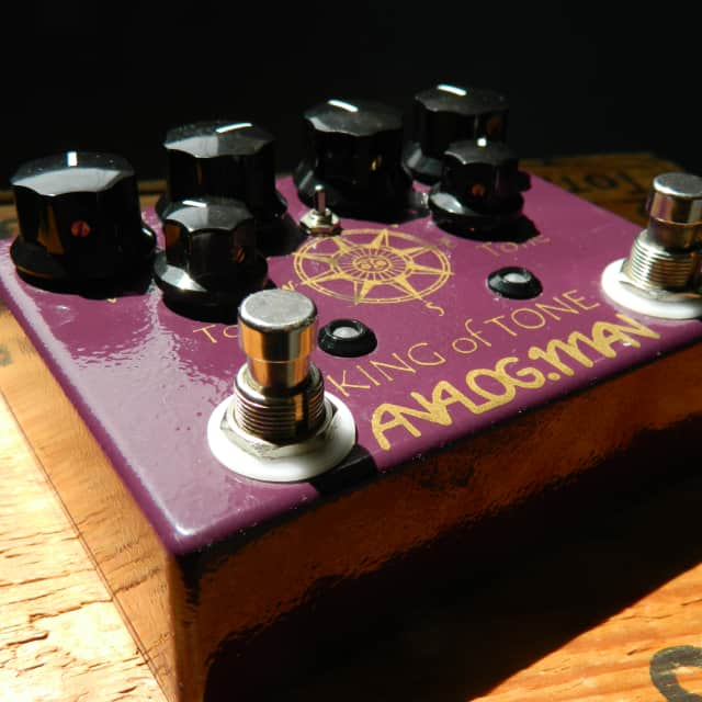 Analogman King of Tone V4 (with Red Side Higher Gain + Mode Toggle Switch) image