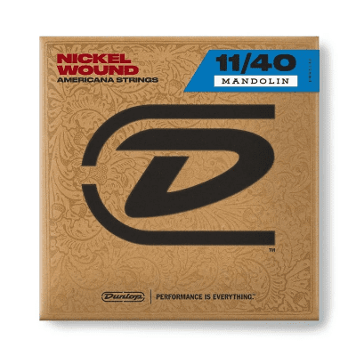 Dunlop DMN11408 Nickel Plated Steel Mandolin Strings - Medium (10-40)