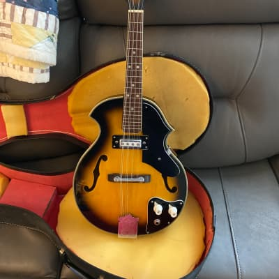 Conqueror  Electric Mandolin 1960s 70s Sunburst for sale