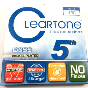 Cleartone 64-130 Nickel Plated Steel 5th Electric Bass String - Low B (130)