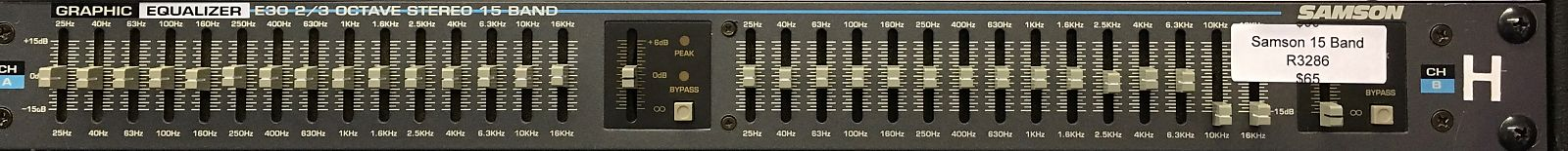 Samson E30 Vintage Rack Mount Graphic Equalizer