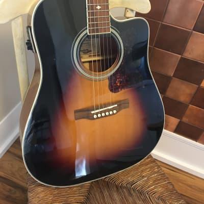 Epiphone Masterbilt DR-500MCE Acoustic/Electric Guitar Vintage Sunburst